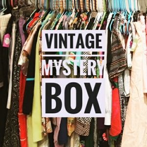 Vintage Mystery box shoes tops skirt dress…